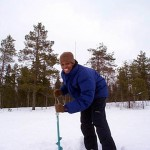 ice fishing in Finland after season